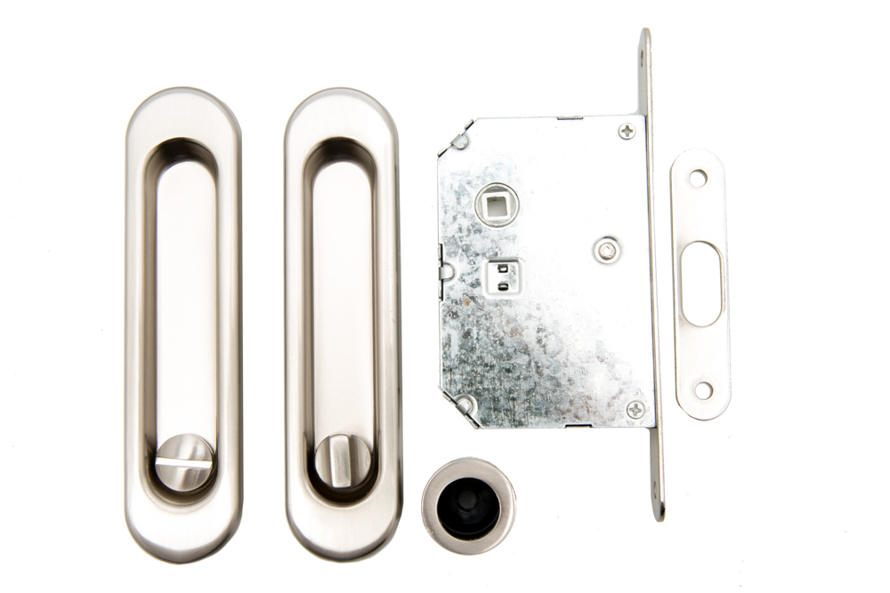 Safita SH011-BK SN Ручки для раздвижных дверей